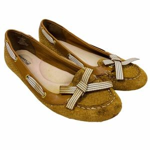Sperry Top-Sider Tan Gold Shimmer Loafer Flats 7.5